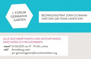 Einladung 1. Forum Germaniagarten