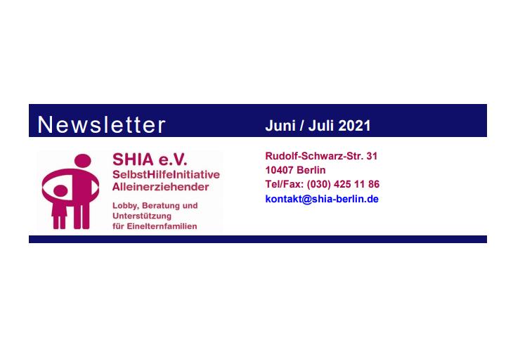 SHIA-Newsletter Juni / Juli 2021
